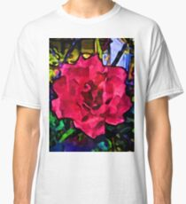Strong Pink Rose Classic T-Shirt