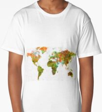 world map art 5 Long T-Shirt