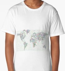 world map art Long T-Shirt