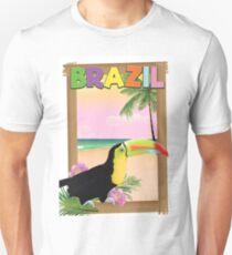Brazil Toucan beach holiday poster Unisex T-Shirt