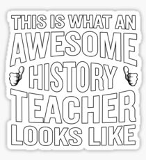 This Is What An Awesome History Teacher Looks Like Funny Sticker
