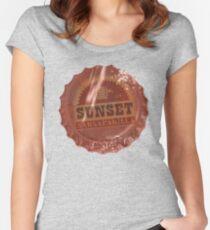 Sunset Sarsaparilla Bottle Cap Women's Fitted Scoop T-Shirt
