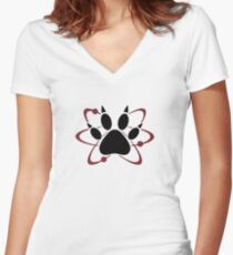 The Walking Dead - Atomic Paw Women's Fitted V-Neck T-Shirt