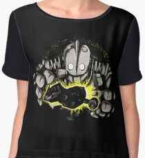 the iron giant Women's Chiffon Top