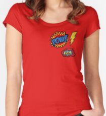 Comic Badges Women's Fitted Scoop T-Shirt