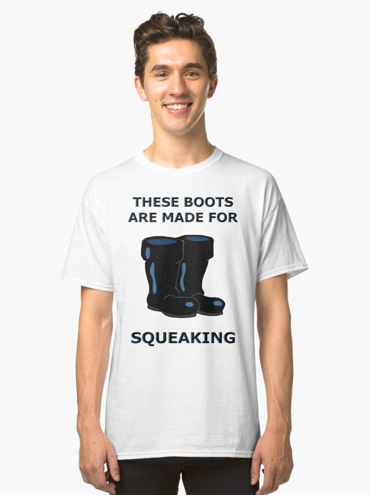 Spongebob Boots Classic T-Shirt Front