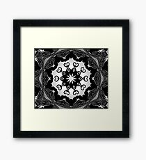 black lace Framed Print
