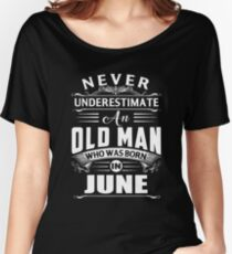 An old man who was born in June T-shirt Women's Relaxed Fit T-Shirt