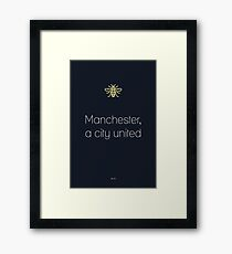 Manchester, a city united. Framed Print