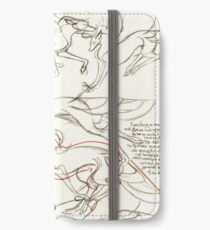 """Aves Concept Sketches II""; Fantasy, Creature iPhone Wallet"