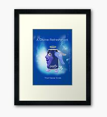 """A Divine Refreshment That Never Ends"" Original Concept & Design by Alice Iordache Framed Print"