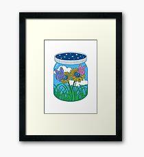 Little jar of happiness Framed Print
