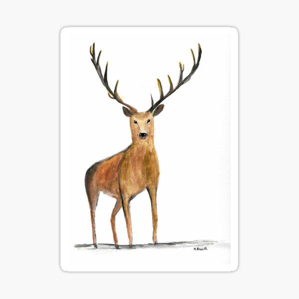 Elk watercolour Sticker