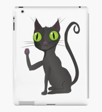 Black cat vector iPad Case/Skin