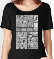Positive & Gym Quote Women's Relaxed Fit T-Shirt