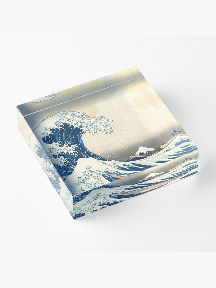 Alternate view of The great wave Acrylic Block