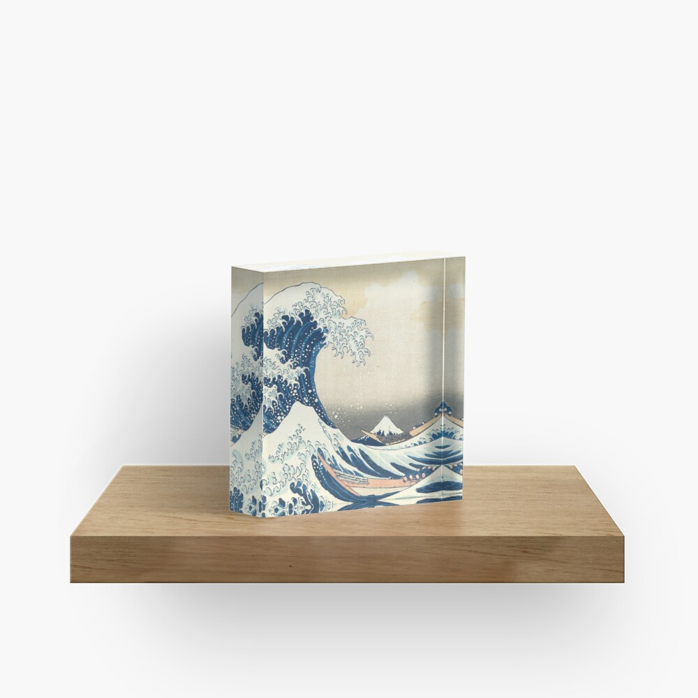 The great wave Acrylic Block