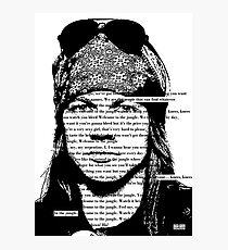 Guns N roses Paradise City Typography Photographic Print