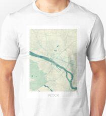 Plock Map Blue Vintage Unisex T-Shirt