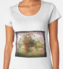 BLOOMS, BLOSSOMS AND BIRDS Women's Premium T-Shirt