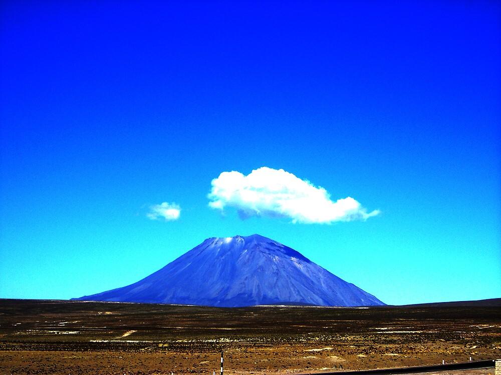 blue volcano by Glenn Browning