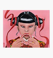 Eating Donuts Photographic Print