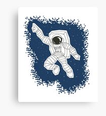 """Gimmie some space, baby!"" - Disco Astronaut Canvas Print"