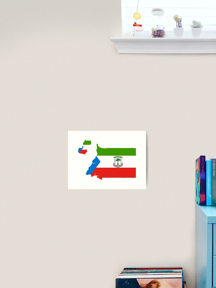 Flag Of Equatorial Guinea Art Print By National Flags Redbubble