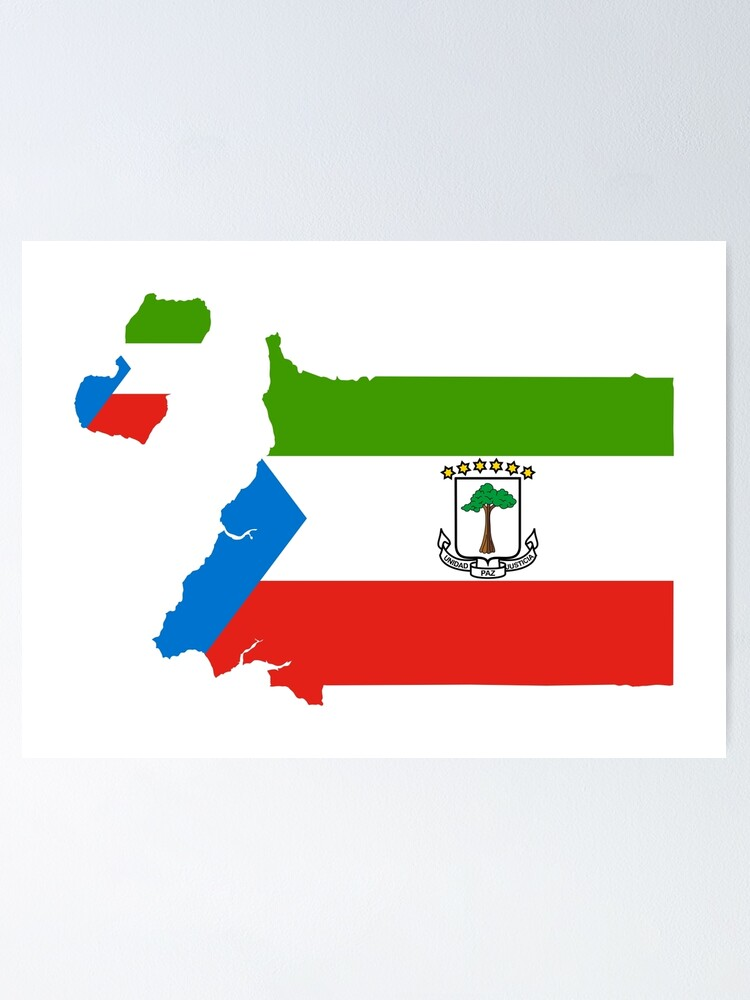 Flag Of Equatorial Guinea Poster By National Flags Redbubble
