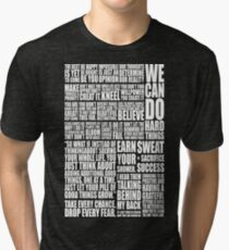 Positive & Gym Quote (Zoom) Tri-blend T-Shirt