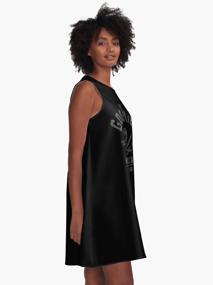 Alternative Ansicht von Die Goonies - Never Say Die - Grau auf Schwarz A-Linien Kleid