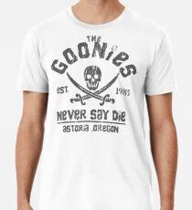 Camiseta premium Los Goonies - Never Say Die - Gris sobre negro