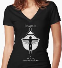 Icarus Body Suspension Women's Fitted V-Neck T-Shirt