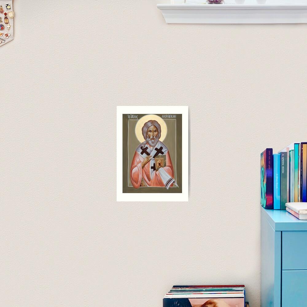 St Therapon Art Print