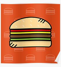 Cute Burger Poster