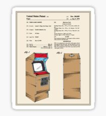 Arcade Game Patent Sticker