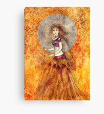 Sunset Belly Dancer Canvas Print
