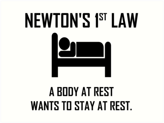 Newtons First Law Funny Physics Joke By The Elements