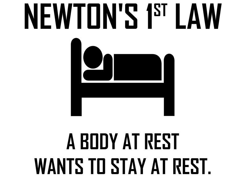 newton u0026 39 s first law funny