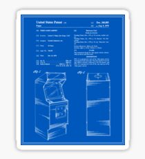 Arcade Game Patent - Blueprint Sticker