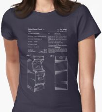 Arcade Game Patent - Black Womens Fitted T-Shirt