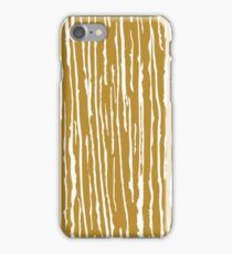 Golden-white lines iPhone Case/Skin