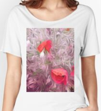Poppies  Women's Relaxed Fit T-Shirt