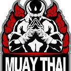 Muay Thai Honored Fighter - Thailand Martial Art Badge by lu2k