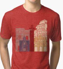 Cuenca skyline poster  Tri-blend T-Shirt