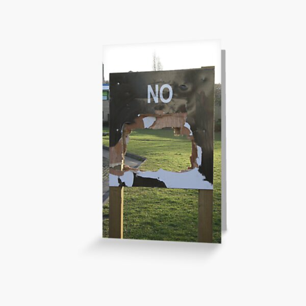 No Notice Greeting Card