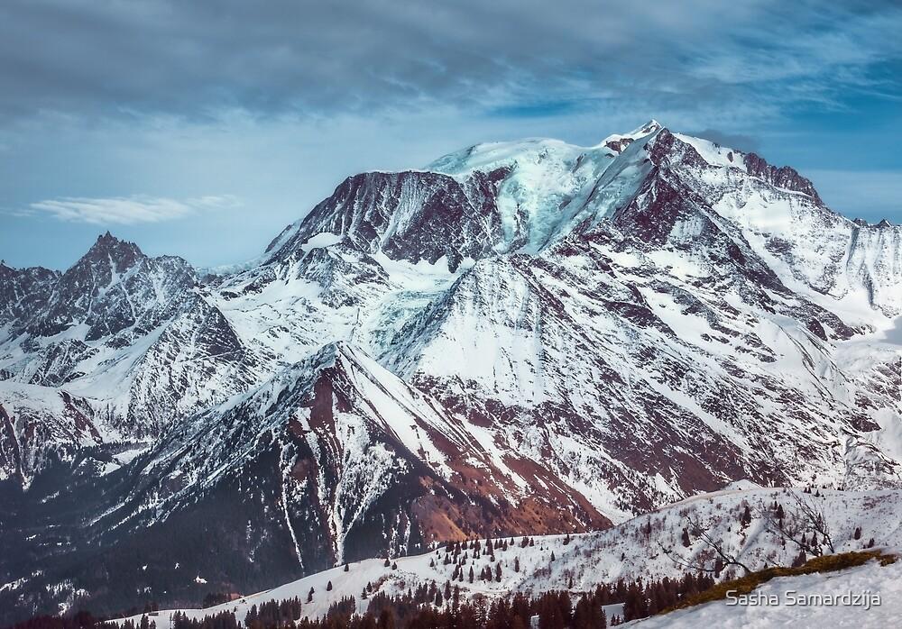Glaciers on the top by Sasha Samardzija