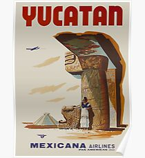 Yucatan Mexicana Airlines Poster