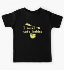 I MAKE CUTE BABIES with diaper and arrow with a matching CUTE BABY Kids Tee