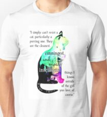 Mark Twain Cat Lover Art Unisex T-Shirt